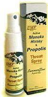 Summerglow UMF20+ Manuka Honey & Propolis Throat Spray